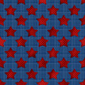 Abstract stars geometric retro seamless pattern background texture Royalty Free Stock Photo