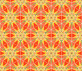 Abstract stars seamless pattern mosaic geometric ornament with bright sun shapes texture in hot colors fancy multicolored Royalty Free Stock Photos