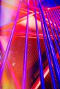 Abstract steel red and blue pipe Background with colorful light, Royalty Free Stock Photo