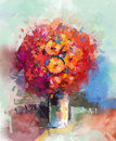 Abstract Still life a bouquet of flowers Royalty Free Stock Photo