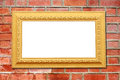 Abstract stone wall background with vintage frame Stock Photos