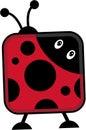 Abstract Stylised Cartoon Ladybird