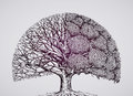 Abstract stylized tree. ecology, nature, environment illustration