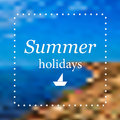 Abstract summer background sea and coast Royalty Free Stock Image