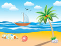 Abstract summer holiday background vector illustration Royalty Free Stock Photo