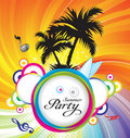 Abstract summer party background Stock Photography