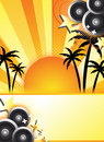 Abstract summer party design Stock Photography