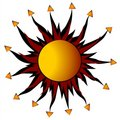 Abstract Sun Design Rays Royalty Free Stock Photos