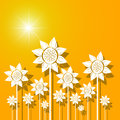 Abstract sunflowers background