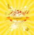 Abstract sunny banner Stock Photos