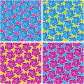 Abstract swirl pattern set. Vector. Stock Photography