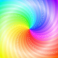 Abstract Swirling Rainbow Background Stock Photo