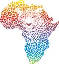 Abstract symbol africa in leopard illustration of as a skin Stock Photo