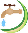 The abstract symbol of clean water Stock Photography
