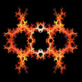 Abstract  symmetrical fractal backgro Stock Photos
