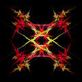 Abstract  symmetrical fractal background Royalty Free Stock Photos