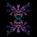 Abstract  symmetrical fractal background Stock Image