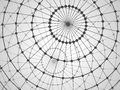 Abstract tech background with lattice sphere. Royalty Free Stock Photo