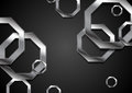Abstract tech background with metallic octagons