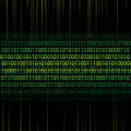 Abstract tech binary background green Stock Images