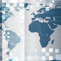 Abstract tech world map background Royalty Free Stock Image
