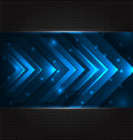 Abstract techno background with set arrows Royalty Free Stock Photo