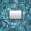 Abstract techno background with Zen-doodle texture in blue silver colors Royalty Free Stock Photo