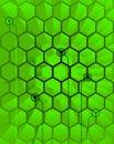 Abstract Techno Green Hive Stock Photos