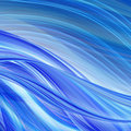 Abstract technology background blue curved shapes dynamic motion computer generated illustration Stock Photos