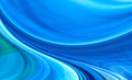Abstract technology background blue curved shapes dynamic motion computer generated illustration Royalty Free Stock Images