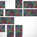 Abstract technology background with colorful gears. Royalty Free Stock Photo