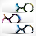 Abstract technology banners Royalty Free Stock Photography