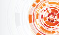 Abstract technology circle orange background Royalty Free Stock Photos