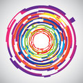 Abstract technology colourful circles background vector illustration Royalty Free Stock Image