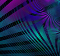 Abstract Technology Fractal Bl...