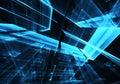 Abstract technology illustration, 3D illustration
