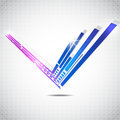 Abstract technology lines vector background, vector illustration Royalty Free Stock Photo