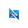 Abstract technology media logo