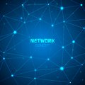 Abstract technology network concept vector illustration Royalty Free Stock Photo