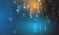 Abstract technology particle. Virtual molecule background. Compu