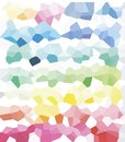 Abstract technology rainbow vector background. Futuristic abstract desi