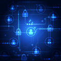 Abstract Technology Security O...