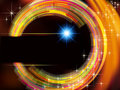 Abstract technology vector background fire circle stars Royalty Free Stock Image