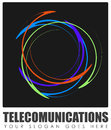 Abstract telecommunications sign colorful with copy space Royalty Free Stock Photos