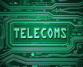 Abstract telecoms concept.