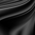Abstract texture black silk fabric for drapery background Royalty Free Stock Photo