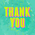 Abstract thank you card greeting design Royalty Free Stock Photo