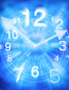 Abstract Time Clock Background Royalty Free Stock Photo