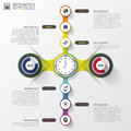 Abstract timeline infographic template vector illustration Stock Photo