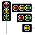 Abstract traffic lights signal eps versions eps format Royalty Free Stock Photo